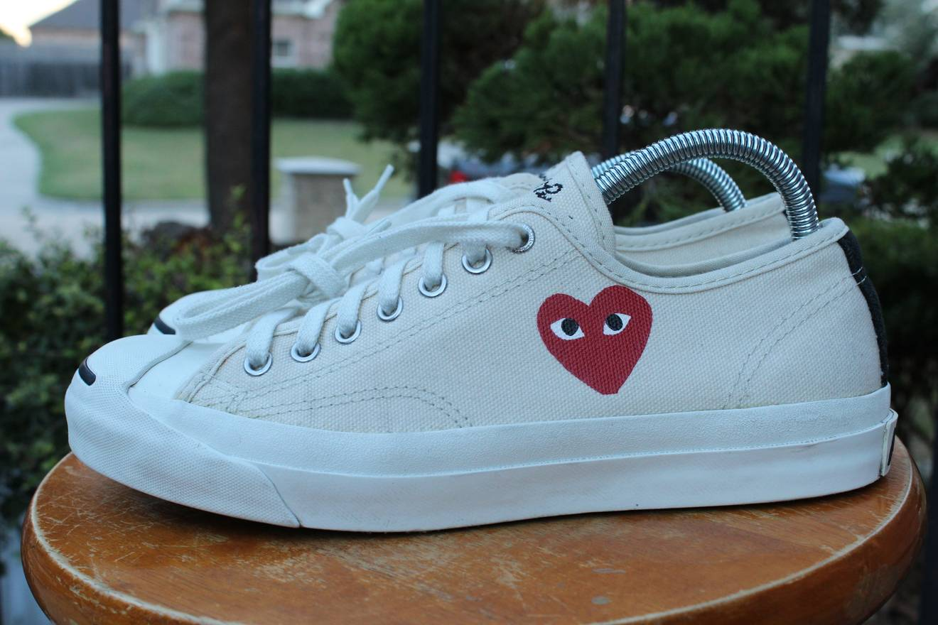 converse cdg low tops little heart og 1 0 chuck taylor jack purcell