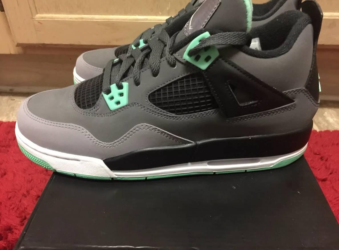 separation shoes 8b1dd c4836 ... cheap jordan brand air jordan retro 4 green glow size us 7 eu 40 e46f0  3c4ea