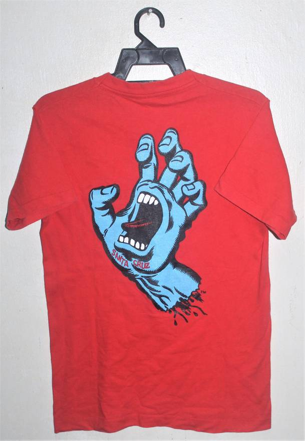 Vintage VINTAGE 80s SANTA CRUZ SKATEBOARD SPEED WHEEL SCREAMING HAND T SHIRT Size US S