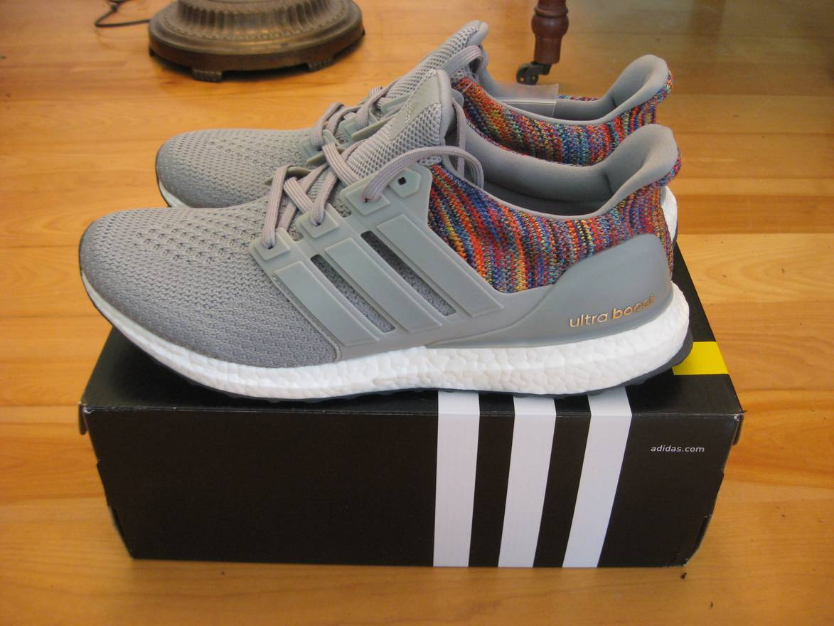 7a8bffee1 ... clearance adidas ds sz.11.5 miadidas mi adidas ultra boost rainbow  multicolor grey gray size