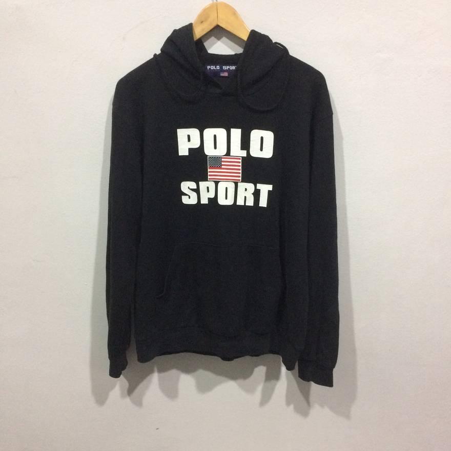 bfea893659b19a ... get polo ralph lauren vintage polo sport ralph lauren hoodie spellout  size us m eu 48 ...