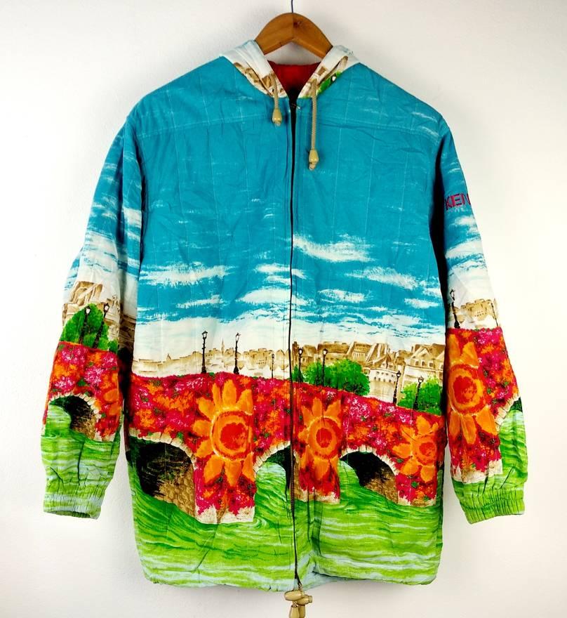 Kenzo Golf Floral All Over Print Hoodie Jacket Medium Size US M EU 48