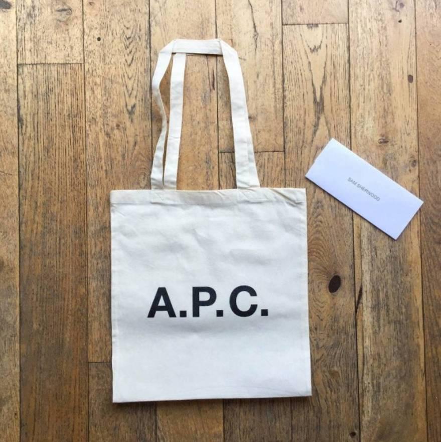A P C Apc Canvas Tote Bag Size One