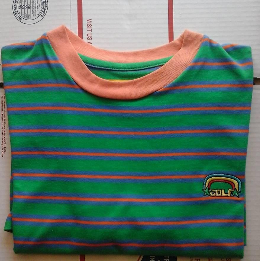 5bf192bb0c05 Golf Green Striped Tee F W 15 Size M Short Sleeve T