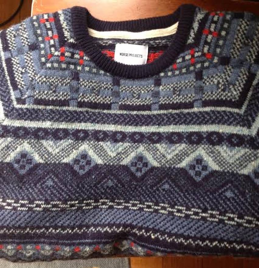 Norse Projects Birnir Fair Isle Wool Knit Size m - Sweaters ...