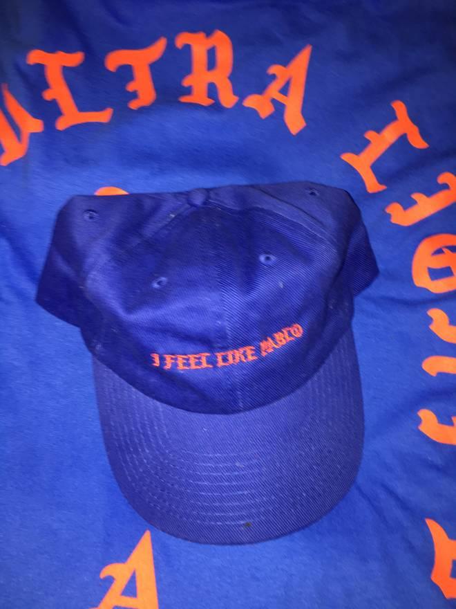 ... Kanye West TLOP I feel like Pablo Blue Hat Size ONE SIZE . 14d588dced69