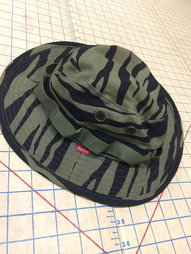 1bf50951 ... coupon supreme safari boonie hat zebra camo olive black 2009 size one  size 8d8ca e5d47