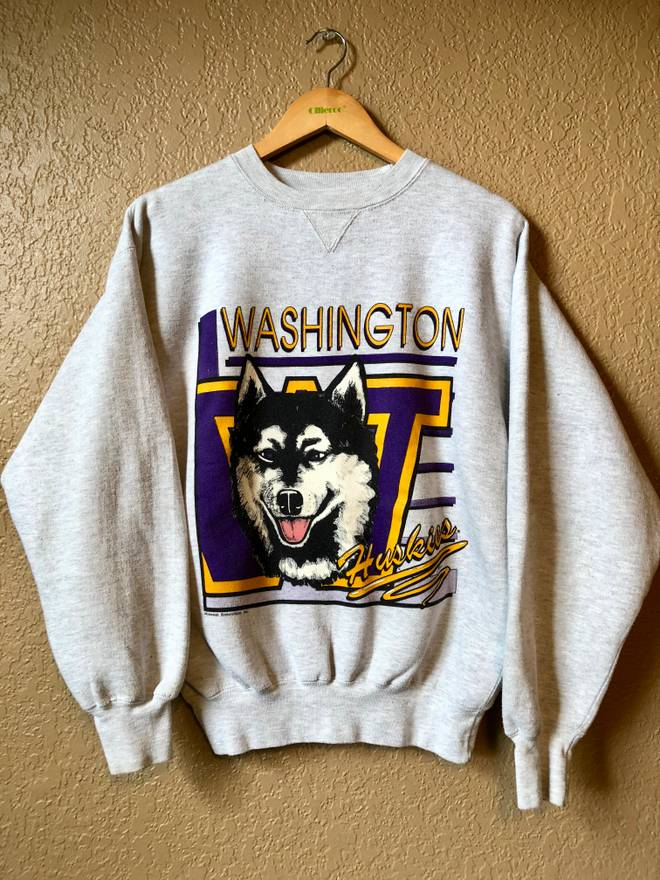 Vintage 90s Washington Huskies Midwest Embroidery Crewneck
