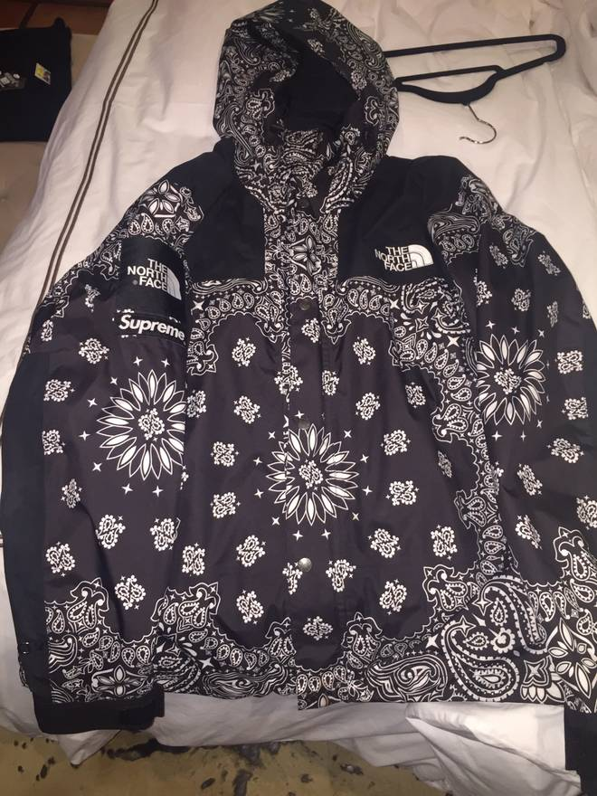 66ef2895 ... promo code supreme bandana paisley supreme x the north face jacket f w  14 parka size bc57d