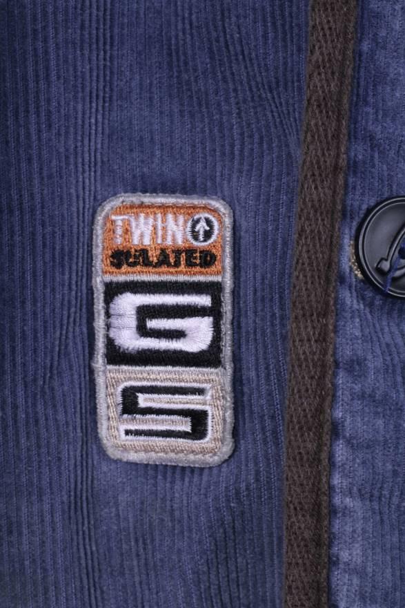 G-STAR Mens M Jacket Snagproof Blue Corduroy Cotton Long Zippered Padded