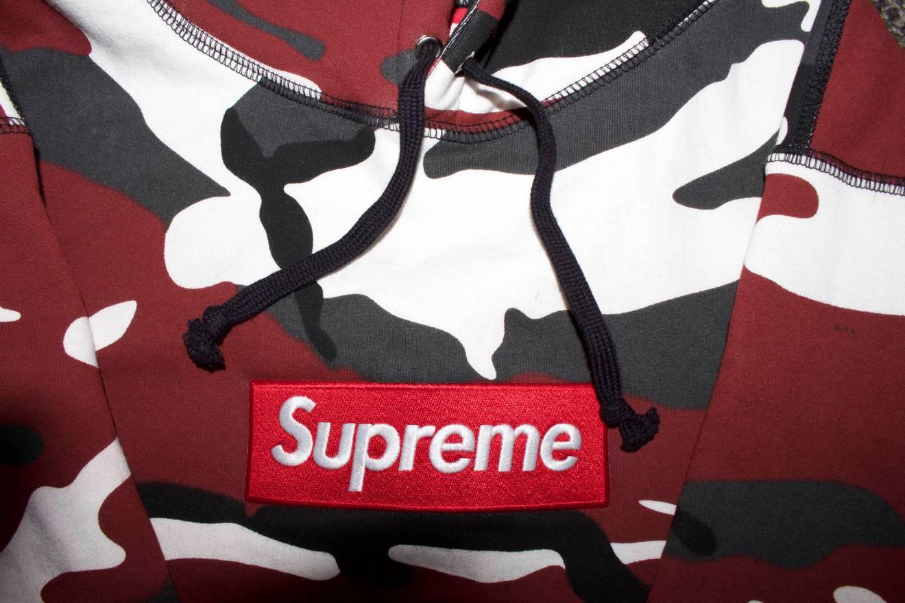 5ce43bd0b1ab Supreme Urban Camo Box Logo Hoodie Size US L EU 52-54 ...
