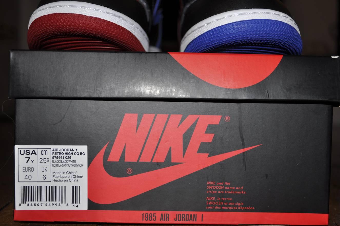 info for fb1e2 eb36e Nike Nike Air Jordan 1 Top 3 Gs Size 7 Us 6 Uk .