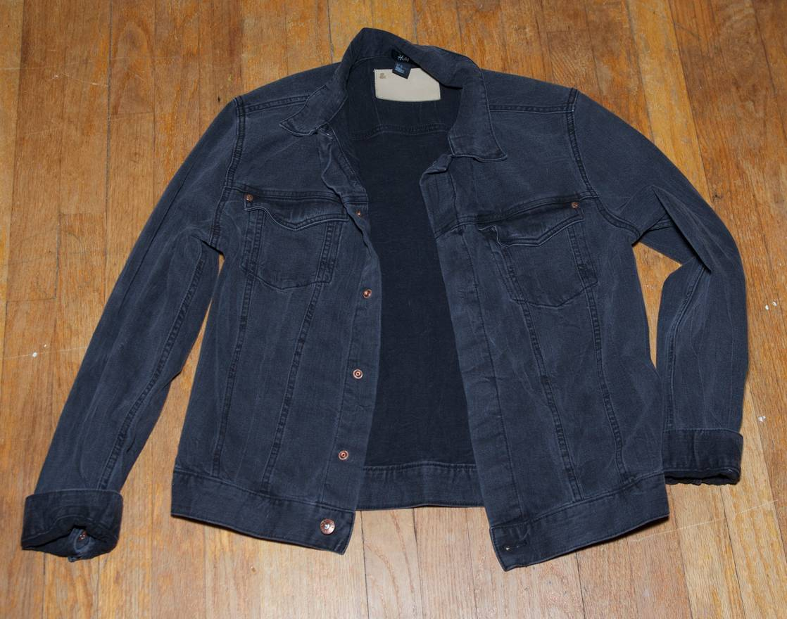 H M H M Faded Black Denim Jacket Size M Denim Jackets For Sale