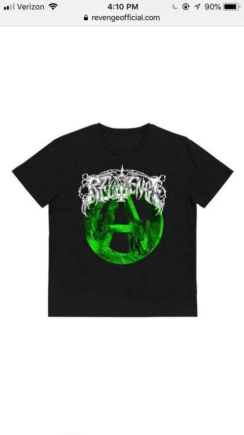 revenge steal revenge clothing gallery tee limited black green