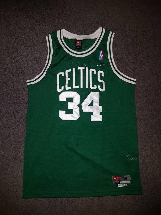 2a3d1ab31 ... number  boston celtics vintage paul pierce nike nba 31 sewn retired  boston celtics jersey new with tags