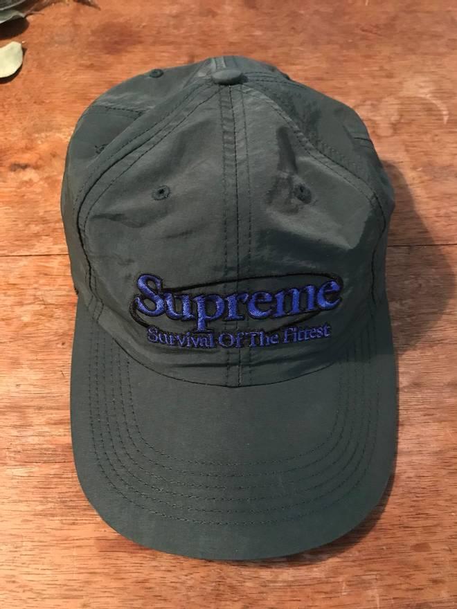bbb801d7106 ... camp cap bf710 0157f  promo code for supreme supreme survival of the  fittest nylon hat size one size 3a7da 4c7e2