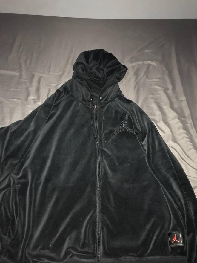 30e443393c1e jordan brand nike air jordan x ovo velour hoodie size us xl eu