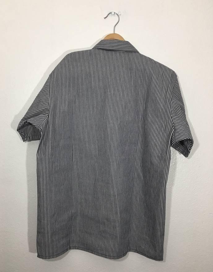 Vintage 90s Striped 1/3 Zipper Long Sleeve Shirt Size M - L