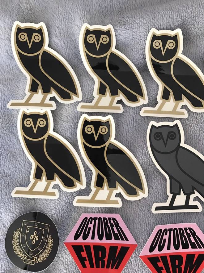 Octobers Very Own Drake Ovo 21 Stickers Lot Houston Appreciation