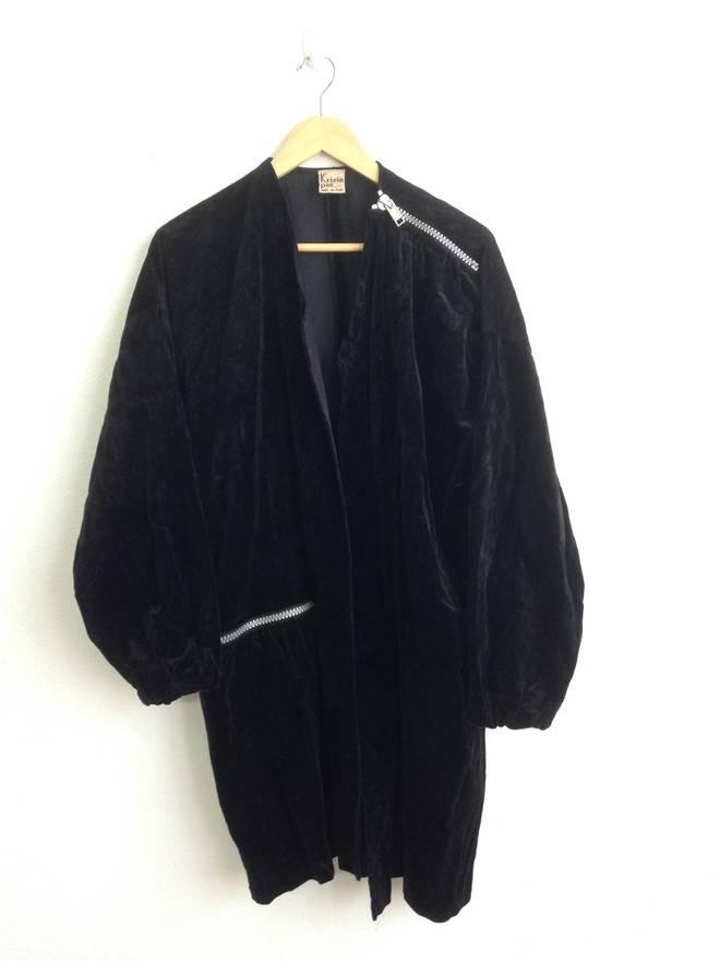 Designer Coats For S   Designer Long Jacket Coat Krizia Poi No Zip No Button Size S Heavy