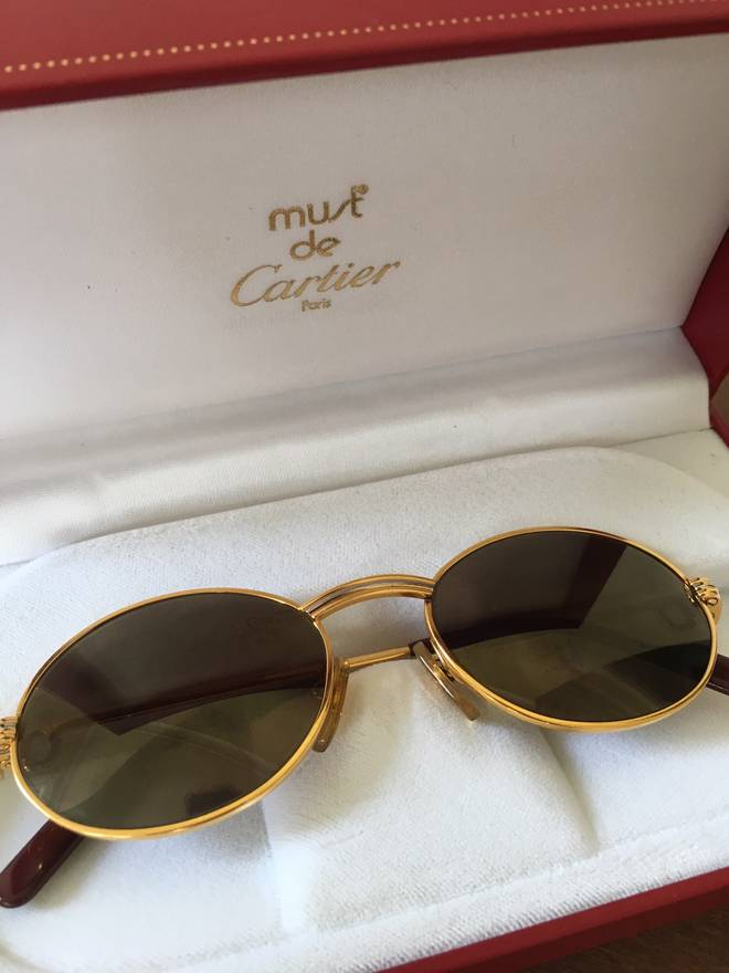 Cartier St Honore Vintage 90s Sunglasses Frames 49-18 Size one size ...
