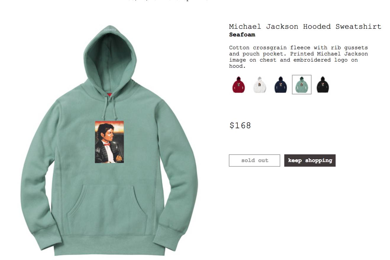 4c476e1f8127 Supreme Michael Jackson Hooded Sweatshirt Seafoam Size US M EU 48-50 ...