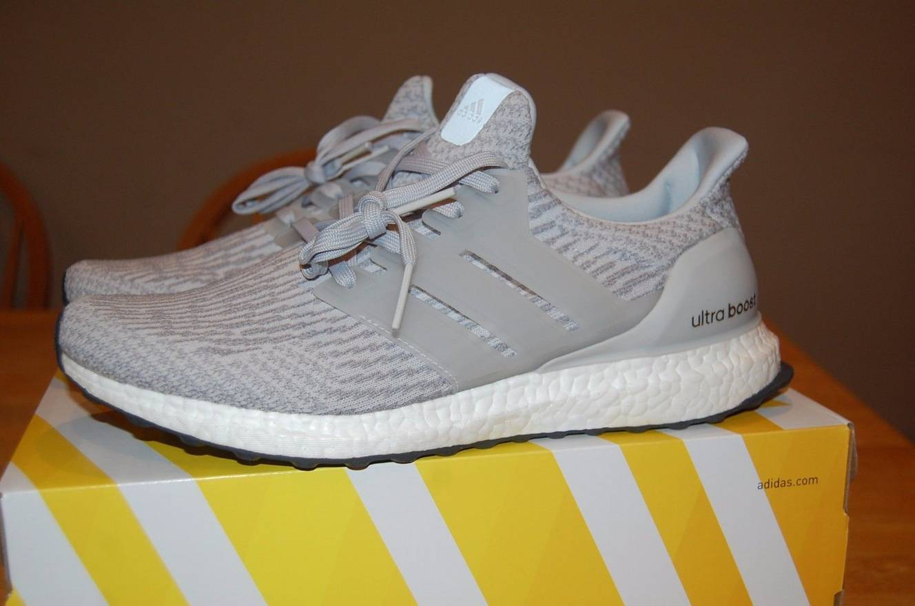 29da935283e ... discount adidas mens adidas ultra boost 3.0 clear grey brand new bb6059  100 authentic size us