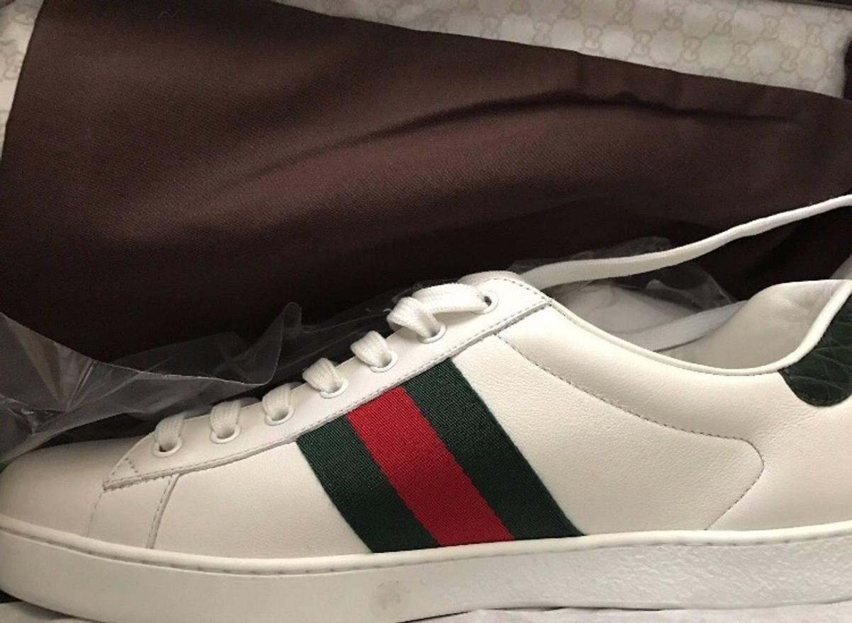 gucci shoes for sale. gucci croc-detail sneakers size us 9.5 / eu 42-43 shoes for sale