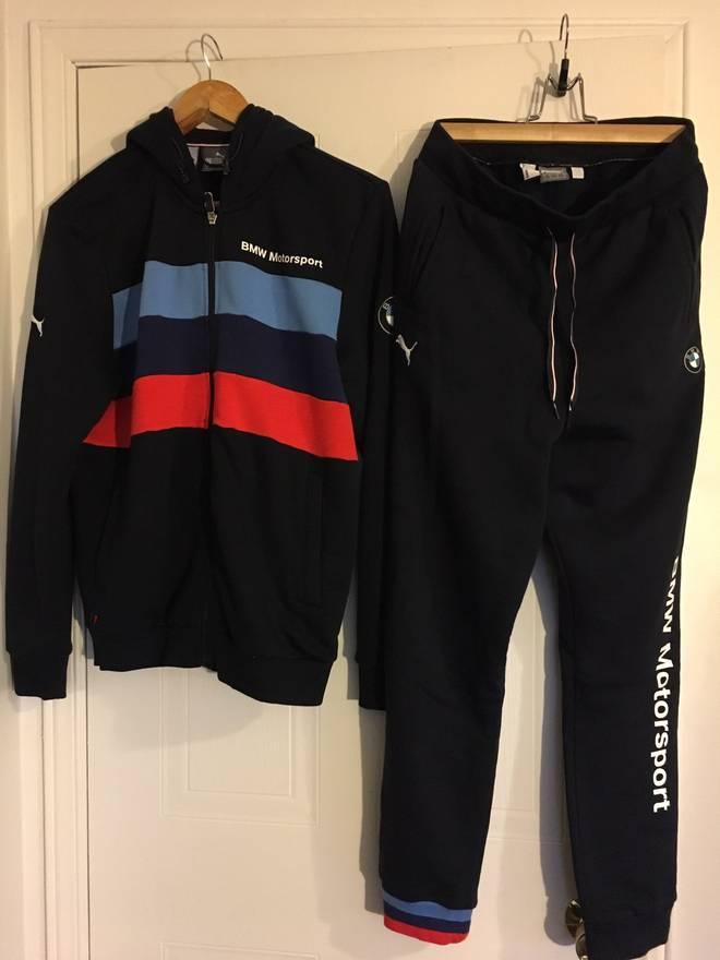 motorsport suit track sweatsuit en bmw jacket puma
