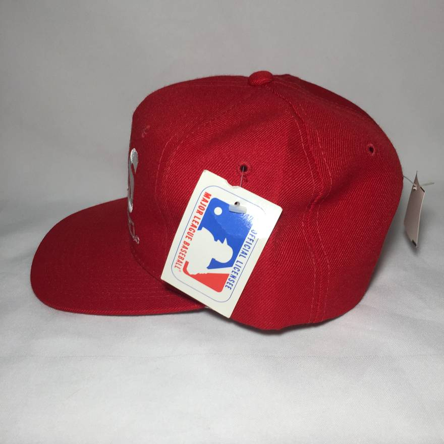 18b08ea6ede ... baseball cap h ad62e 17aa7  authentic vintage cincinnati reds snapback  hat in red size one size 1 1d33b 1d96c