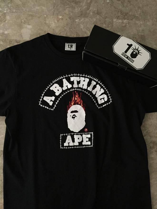 bape bape x travis scott tee size xl short sleeve t shirts for