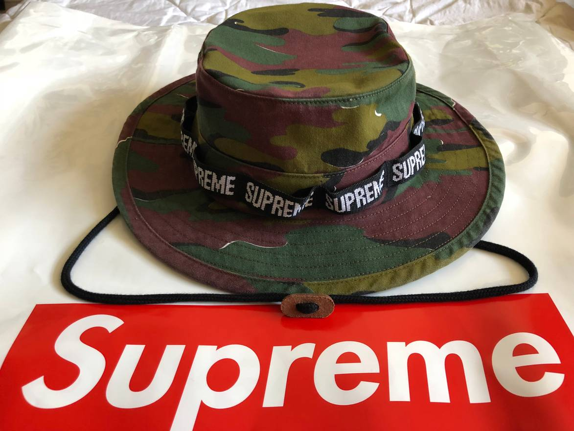 b65a19ab7c22d ... spain supreme supreme military boonie bucket hat camo s m in hand ready  to ship ss18 b98f7