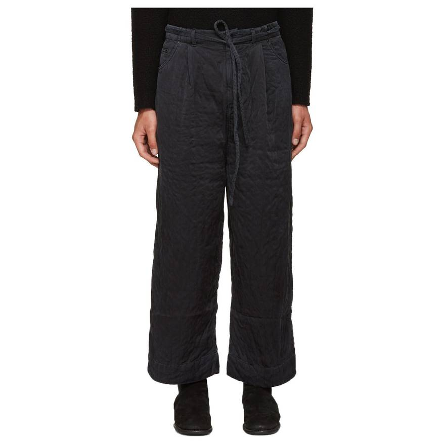 Craig Green Black Silk Quilted Wide-Leg Trousers *LAST DROP* Size ... : quilted trousers - Adamdwight.com