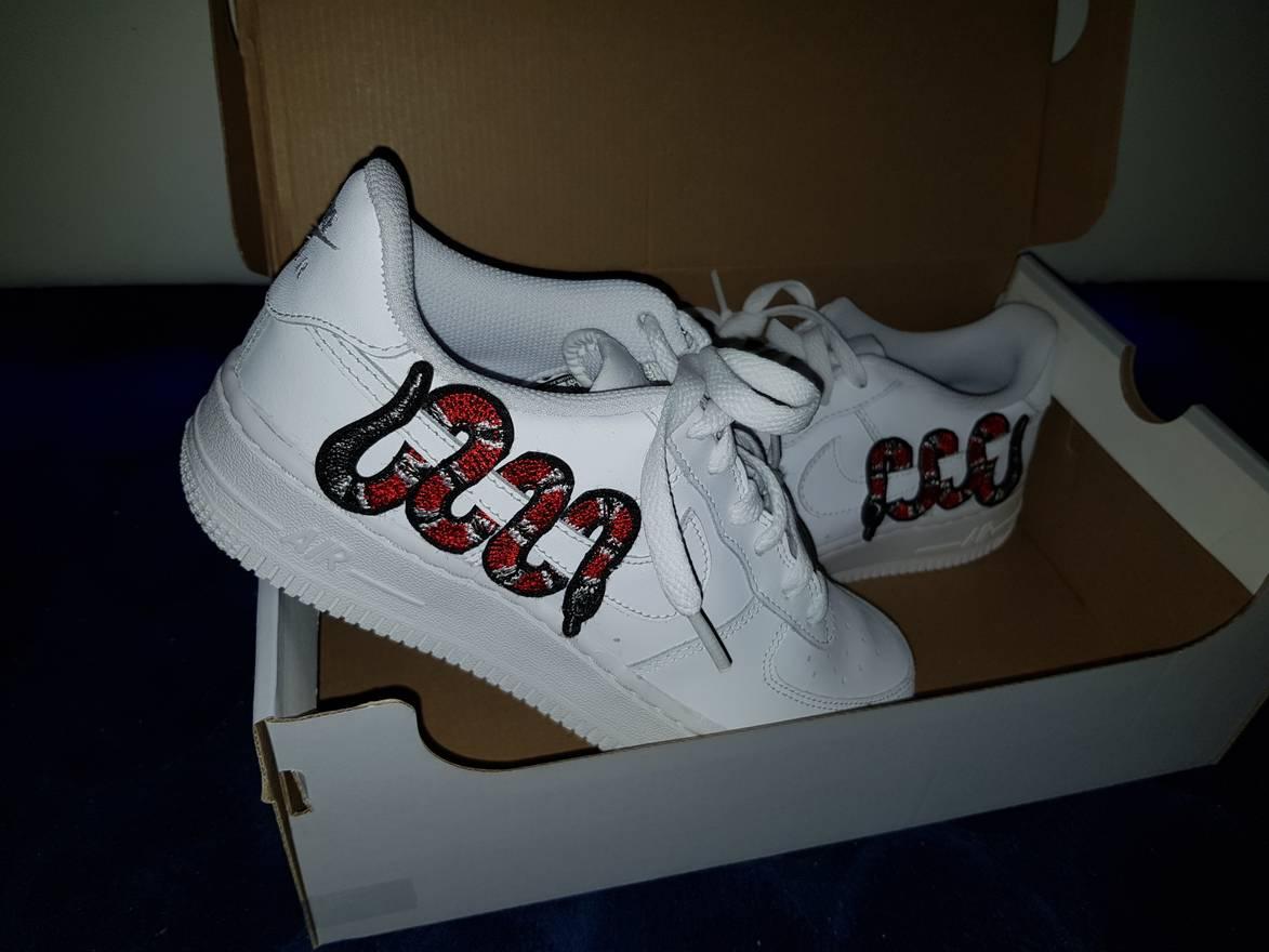 Us Air Force Nike 1 Gucci Snake Custom Size US 105 EU 43