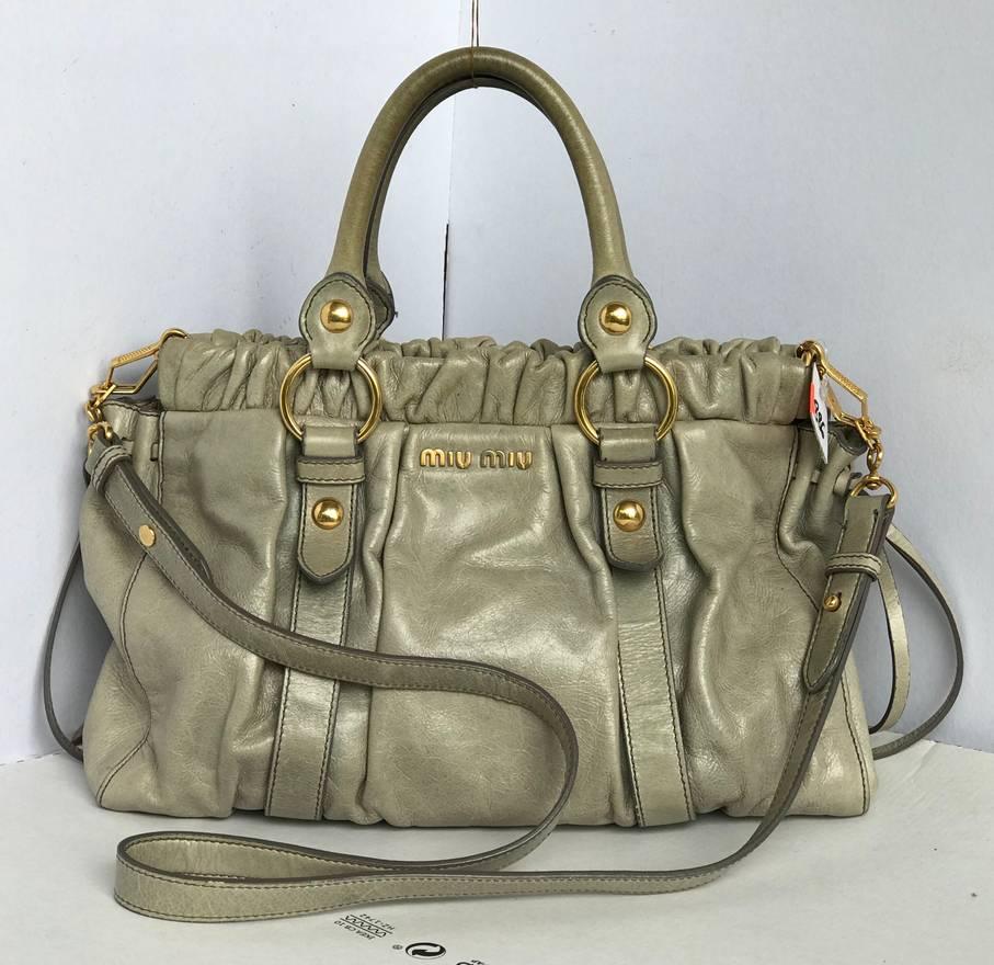 c8b2c17cc52 Authentic miu miu 2 way Shoulder Bag Leather t