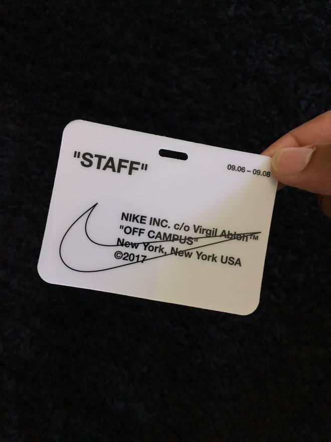 Off White X Nike Campus Badge Size