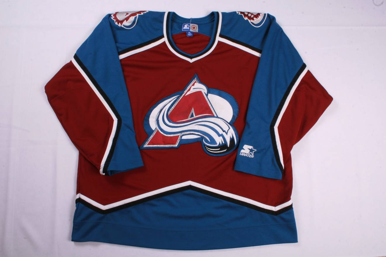 discount code for starter vintage starter nhl colorado avalanche hockey  jersey size us xl eu 56 01d5d4413
