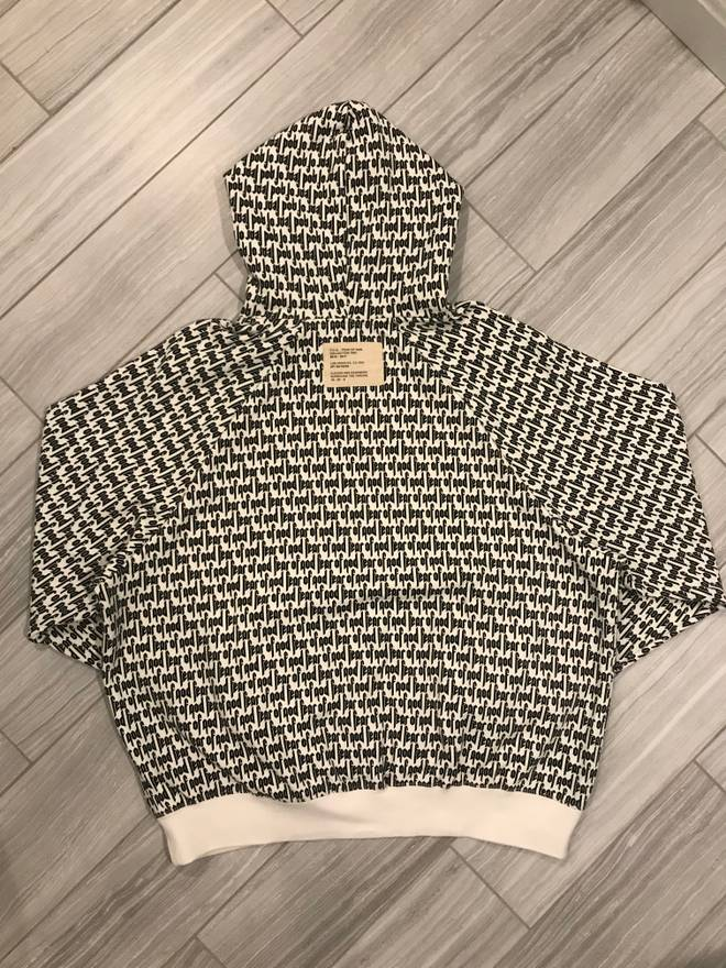 Pacsun Fear Of God All Over Print Boxy Hoodie Medium Size US M EU 48