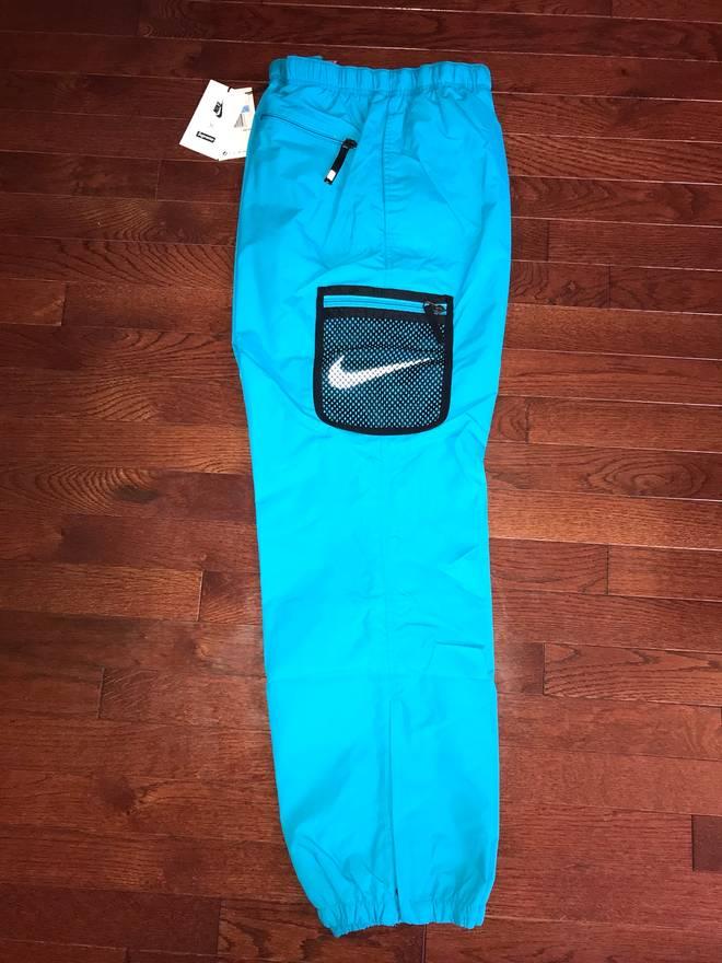 Supreme Nike Blue Runner Track Pants Size Medium US 30 EU 46