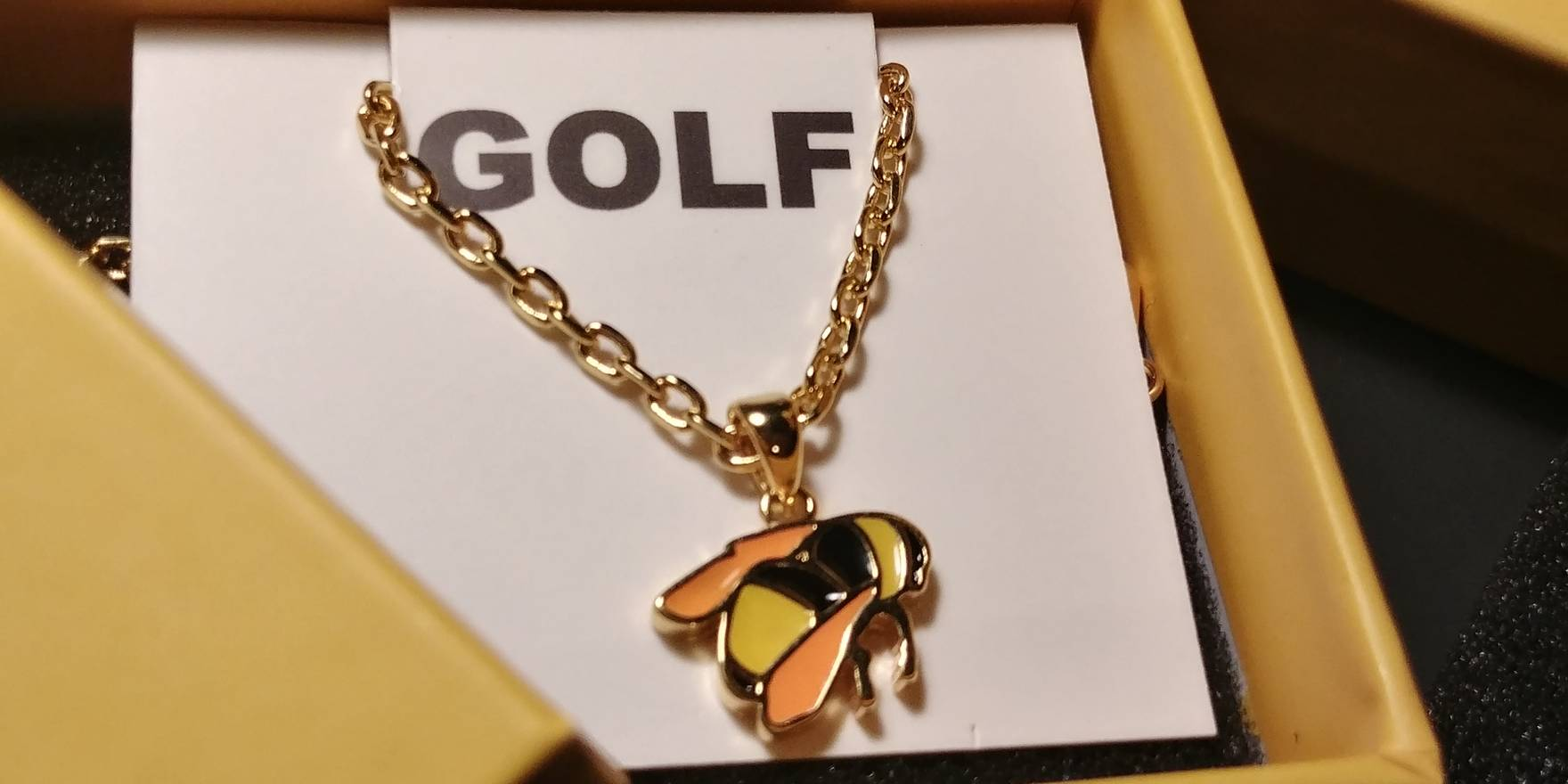 Golf wang flower boy bee necklace golf wang tyler the creator golf wang flower boy bee necklace golf wang tyler the creator size one aloadofball Images