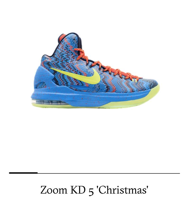 Nike Nike Zoom Kd 5 Christmas Size 10 - Hi-Top Sneakers for Sale ...