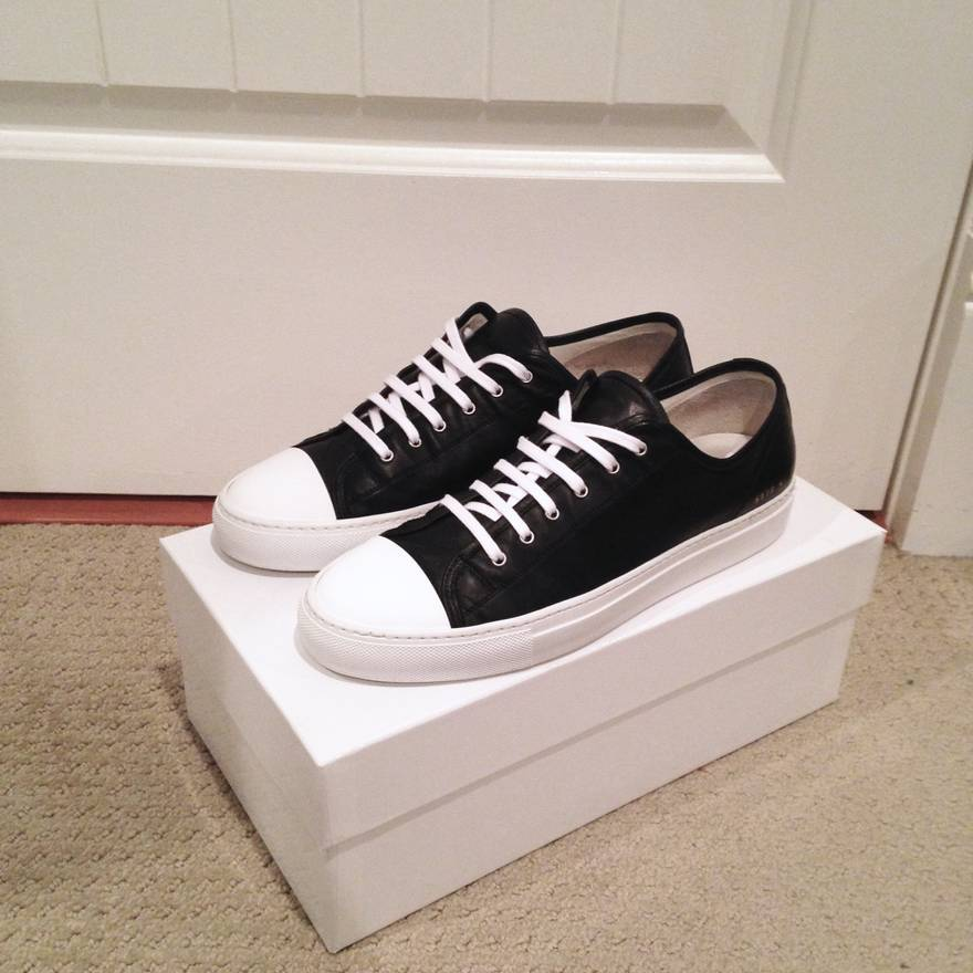 COMMON PROJECTS Black Tournament Low Cap Toe Sneakers