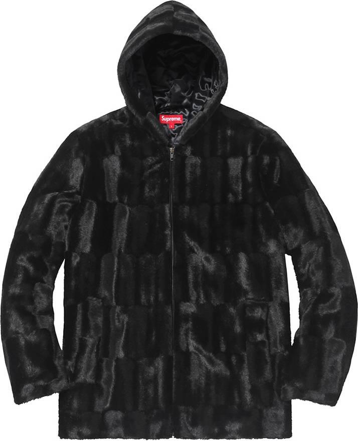 6886cfca7734 ... Supreme Faux fur hooded jacket Size US XL EU 56 ...