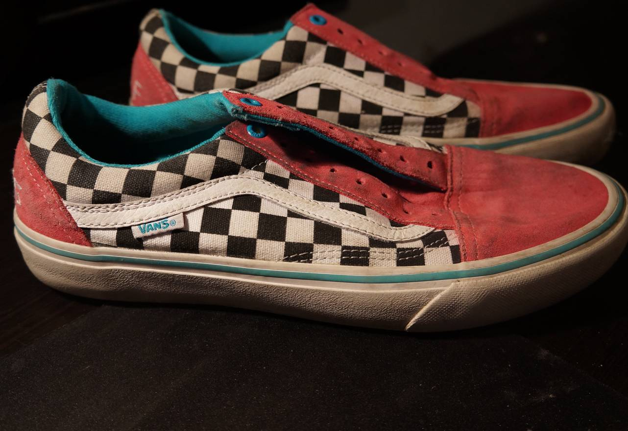 5e558ec10351 ... Golf Wang Vans Checkered Pink Size US 9 EU 42 ... Vans Golf Wang Blue  Pink White OLD Skool ODD Future ...