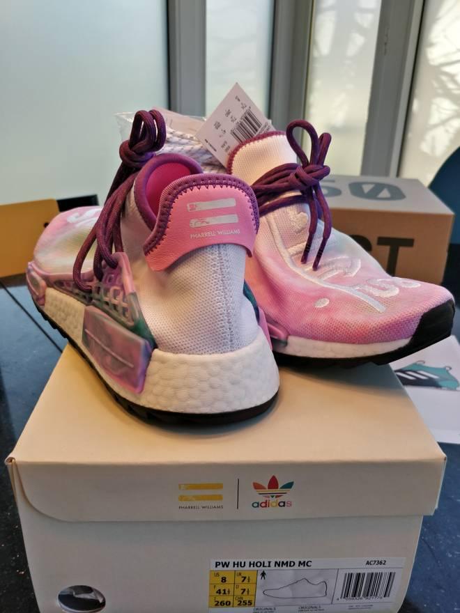 Adidas Low Pharrell x NMD Trail Holi raza NMD humana Size Pink Glow Size 8 Low 24b4af7 - colja.host
