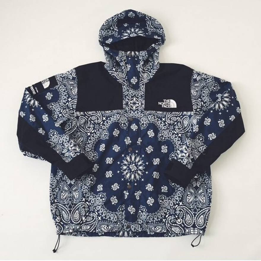 cdc5fce9 ... clearance supreme supreme x the north face fw14 blue paisley jacket  size us l eu 52