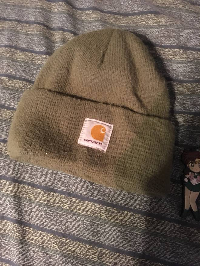 3158613da25dc ... buy vintage vintage made in usa carhartt olive beanie size one size  9df95 d4b89