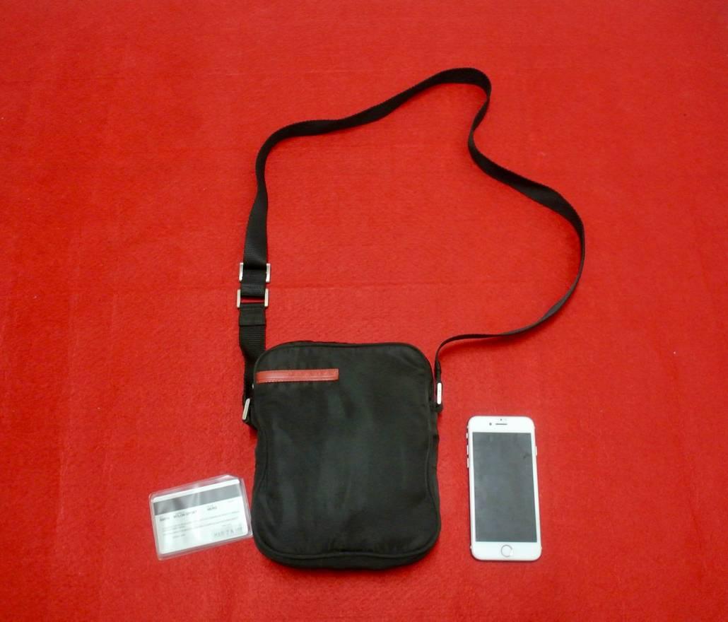 717fa857b7e ... spain prada prada sport nylon shoulder bag size one size 0912f 219dd ...