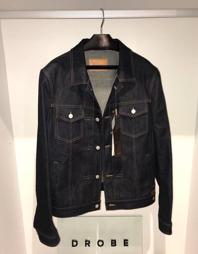 gucci denim jacket with bee size m denim jackets for sale grailed