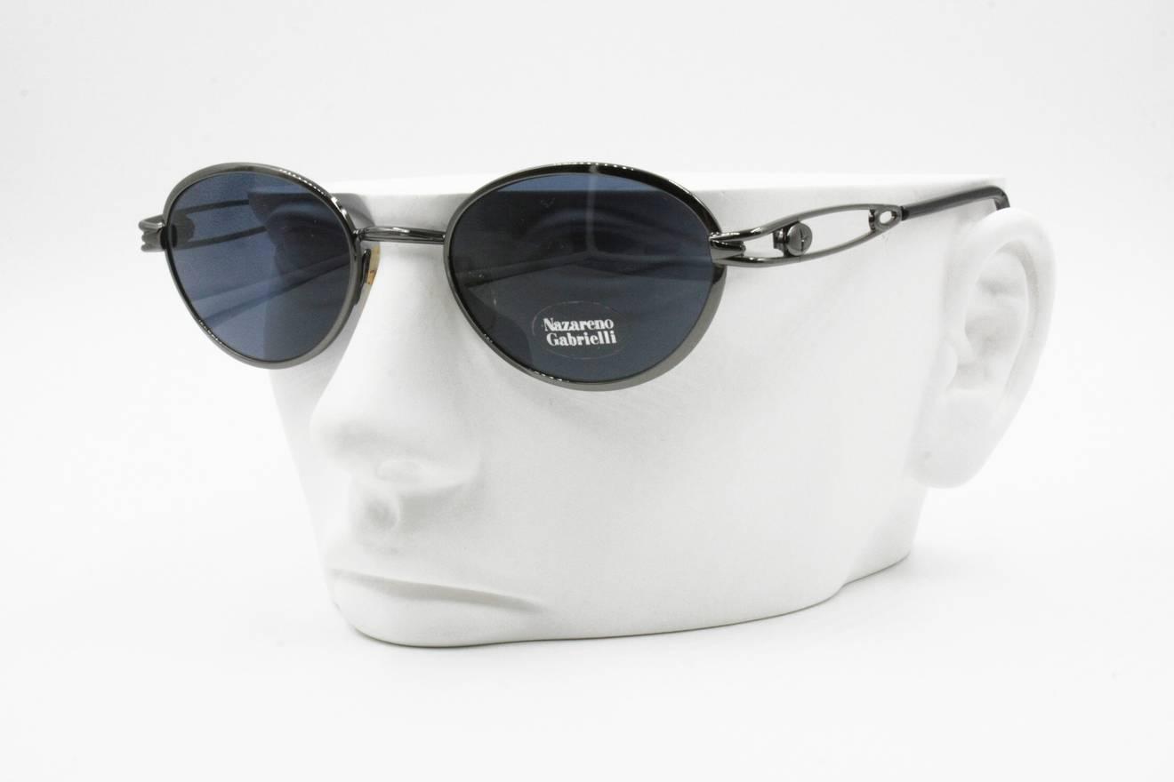 Nazareno Gabrielli Nazareno Gabrielli vintage sunglasses oval blue ...